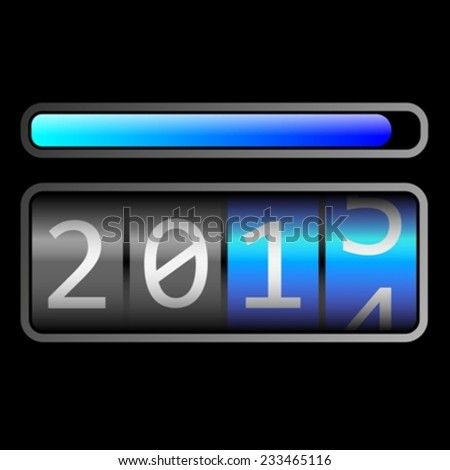 2015 countdown eps10 - stock vector