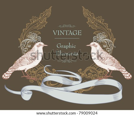 cover design- best card for wedding- classic style - stock vector