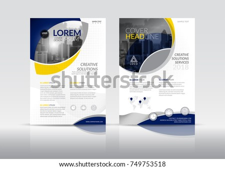 Cover Design Template Annual Report Cover Stock Vector HD (Royalty ...