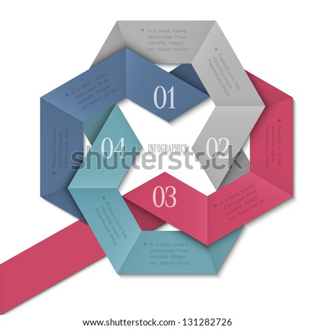 Creative Design template for infographics, website templates and graphic business design. Vector EPS10 - stock vector
