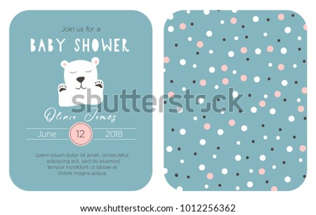 Cute baby shower invitation template card stock vector hd royalty cute baby shower invitation template card vector clip art for children filmwisefo