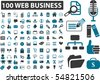 100 cute everyday web business signs. vector - stock vector