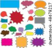 20 cute idea & speech color bubbles. vector - stock vector