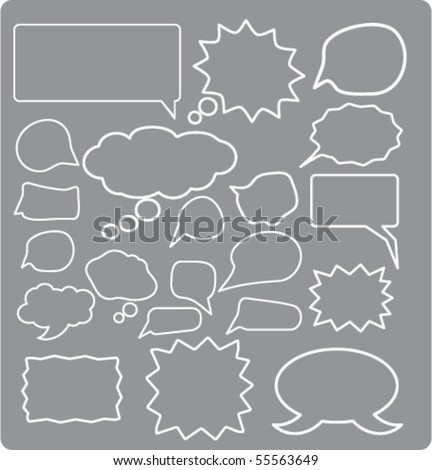 20 cute thought & chat signs. vector