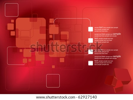 3D Abstract Background - stock vector