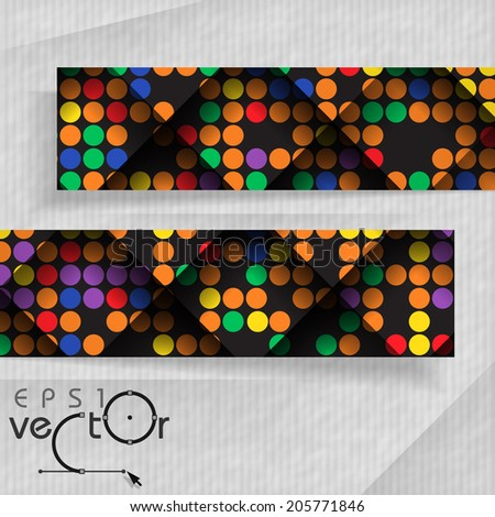 3D Abstract Banners With Place For Your Text. Vector Illustration. Eps 10. - stock vector