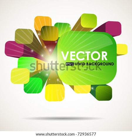 3D abstract colorful background - vector illustration with place for text - stock vector