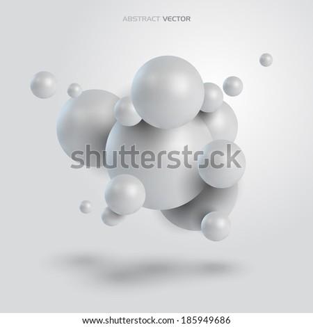 3D Abstract concept. Vector design. - stock vector