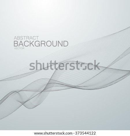 3D abstract digital wave of particles and wireframe. Futuristic vector illustration. HUD element. Technology concept. Abstract background - stock vector