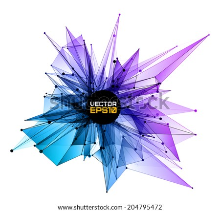 3D abstract geometric background.  Vector design layout for your presentations, flyers, posters. - stock vector