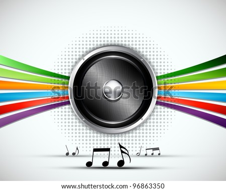 3D Abstract music vector background design - stock vector