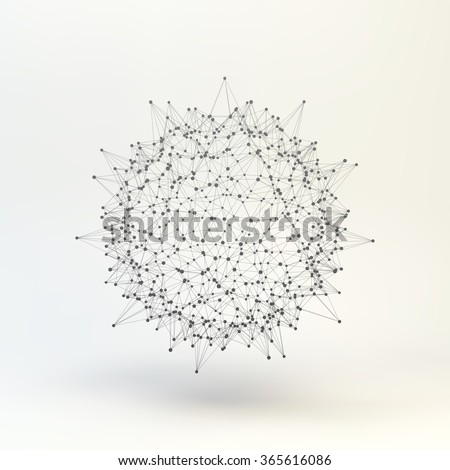 3d Abstract Sphere. Vector Illustration.