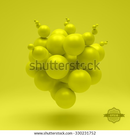 3d abstract spheres. Vector illustration. - stock vector