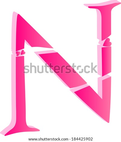 n alphabet in love  Stock Photos, Illustrations, and