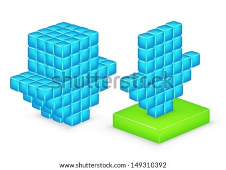 3D arrow download. Vector - stock vector