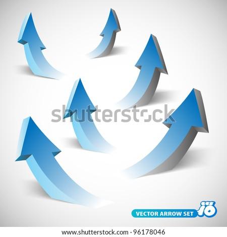 3D arrows - stock vector