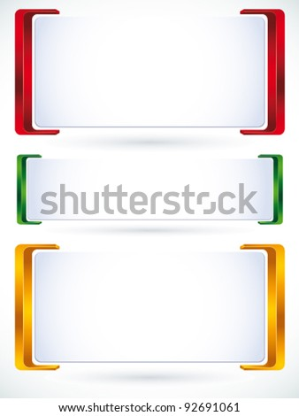 3d banner set of color versions. - stock vector