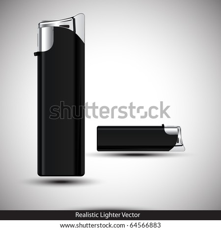 3D Black Lighter Presentation. Vector illustration. - stock vector