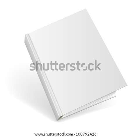 3D blank hardcover book isolated on white background. - stock vector