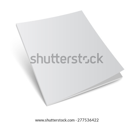3D blank magazine or brochure cover mockup. Realistic vector illustration for your design. - stock vector