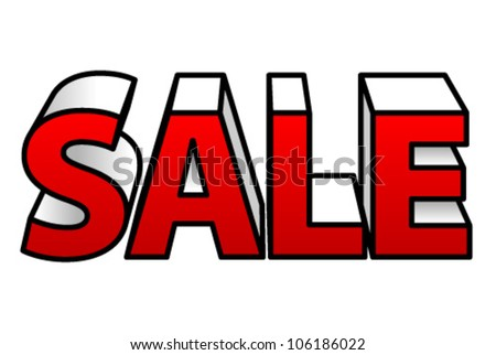 3d Block Letters Forming Word Sale Stock Vector
