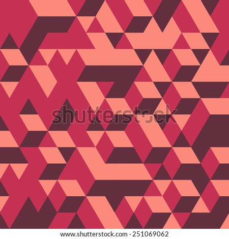3d blocks structure background. Vector illustration. Background for business presentation.