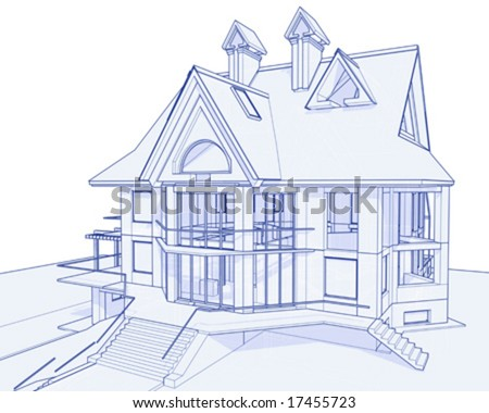 House blueprint stock photos images pictures shutterstock 3d house drawing
