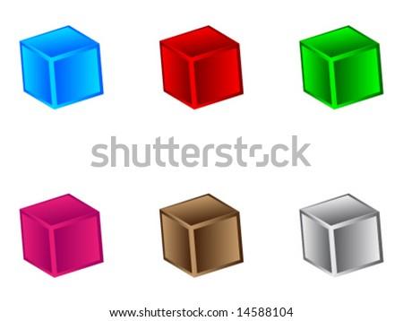 3d box - stock vector