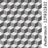 3d boxes geometric optical seamless pattern, black and white vector background. - stock