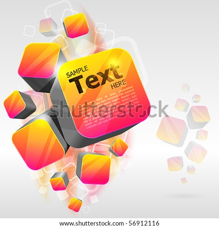 3d bright abstract background - vector illustration - stock vector