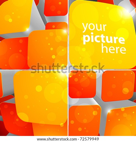 3d bright abstract background with cubes - vector illustration - stock vector