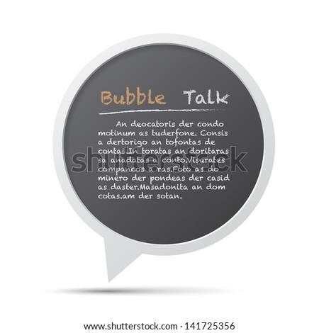 3D bubble talk frame. Design element , Illustrator EPS10 - stock vector