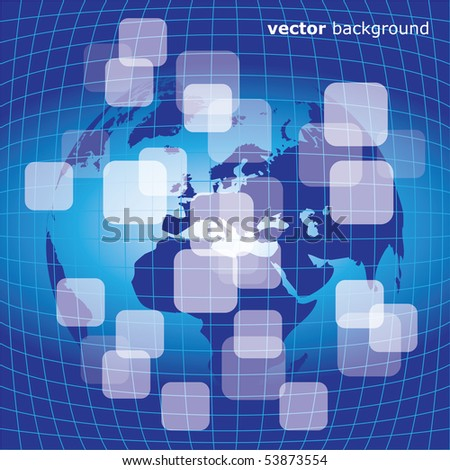 3d business abstract background - vector illustration - stock vector