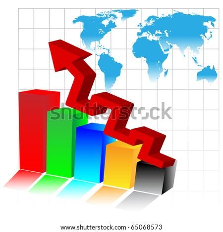 3d Business diagram.Vector - stock vector