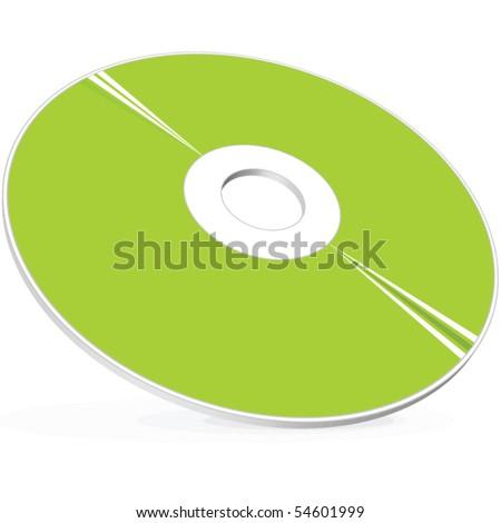 3D CD DVD Blue-ray disc - stock vector
