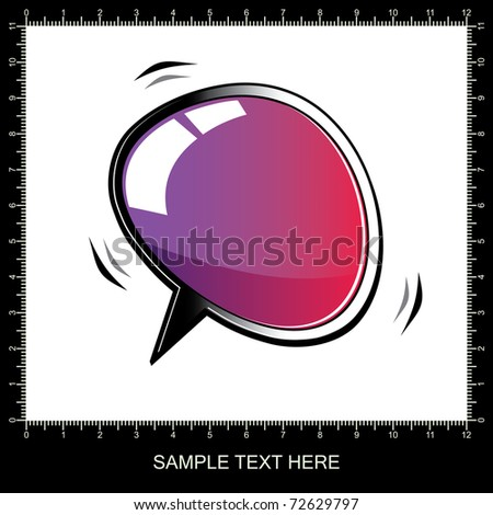 3D chat and thought bubble - vector - stock vector