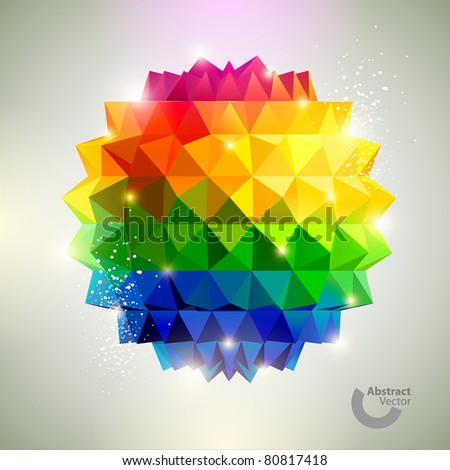 3D Colorful ball. - stock vector