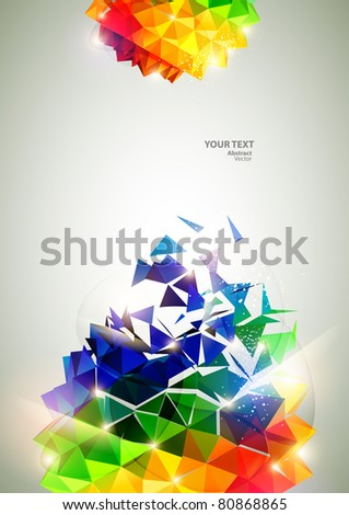 3D colorful balls - stock vector