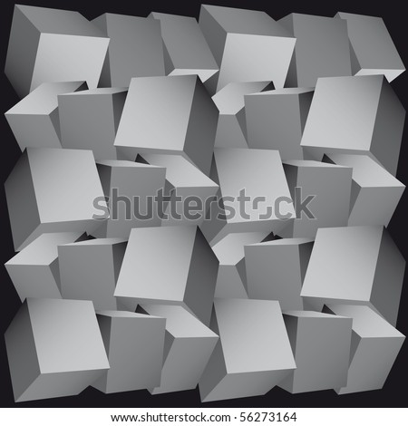 3d composition of cubes vector illustration - stock vector