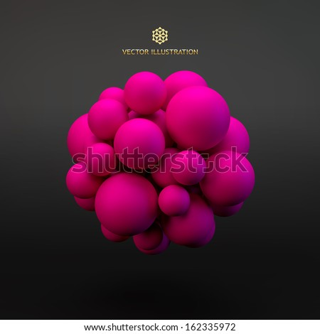 3D concept illustration. Vector template. - stock vector