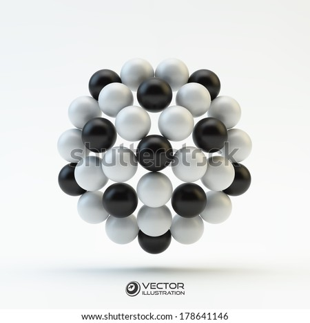 3D concept illustration. Vector template.  - stock vector