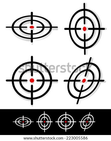 3d crosshair, target graphics - stock vector