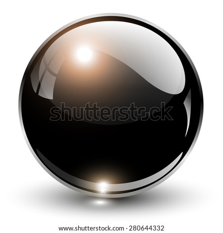 3D crystal sphere, vector illustration. - stock vector