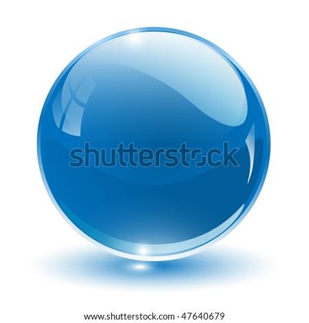 3D crystal sphere, vector illustration. - stock vector