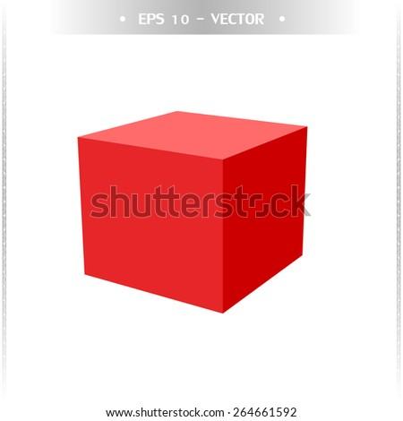 3D cube. Vector illustration - stock vector