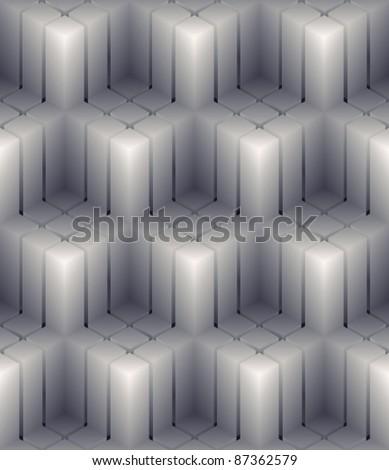 3D cubes seamless pattern. - stock vector