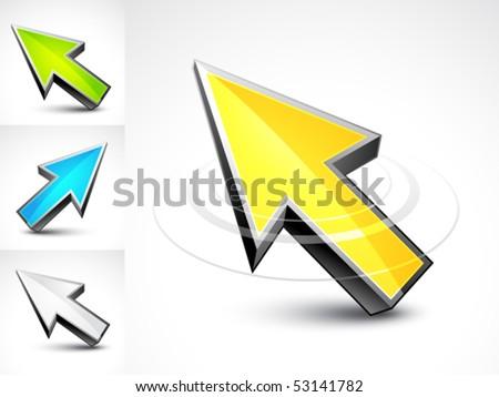 3D cursor - stock vector
