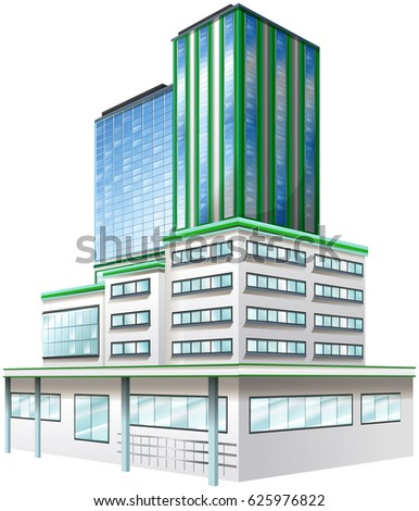 3d design for office building illustration - 3d Design Building