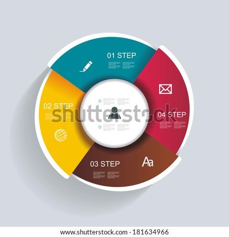 3d design infographics for presentations, seminars, advertising - stock vector