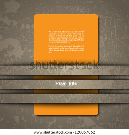 3d design of a card in cut out background - stock vector